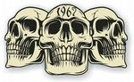 Vintage Biker 3 Gothic Skulls Year Dated Skull 1967 Cafe Racer Helmet Vinyl Car Sticker 120x70mm